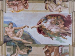 Michelangelo, the Creation of Adam in the Sistine Chapel, Vatican, Rome, Lazio, Italy, Europe by Rainford Roy