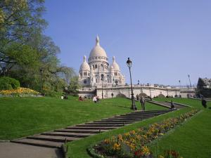 Sacre Coeur, Montmartre, Paris, France, Europe by Rainford Roy