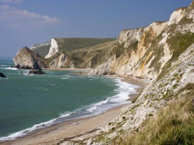 St. Oswald's Bay Beach and Cliffs, Dorset, England, United Kingdom, Europe by Rainford Roy