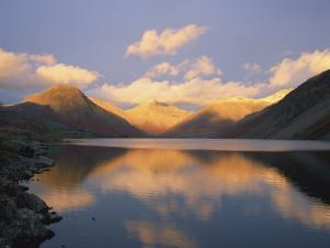 Wasdale Head and Great Gable Reflected in Wastwater, Lake District National Park, Cumbria, England by Rainford Roy