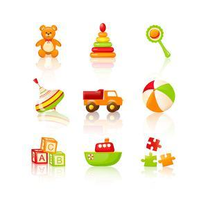 Colourful Children'S Toys Icons by Rainledy