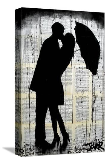 Rainy Day Romantics-Loui Jover-Stretched Canvas