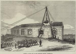 Raising a 25-Ton Gun at the Gilkicker Battery, Portsmouth