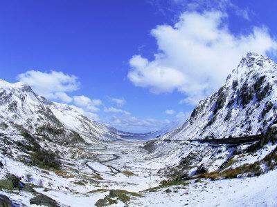 Nant Ffrancon Pass, Ogwen Valley, Snowdonia, Gwynned, Wales, UK, Europe