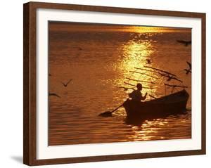 Boat on the River Ganges in Allahabad, India by Rajesh Kumar Singh