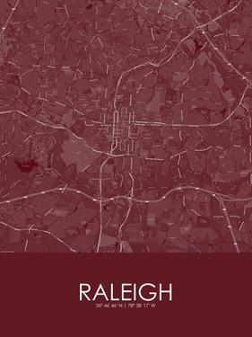 Raleigh, United States of America Red Map