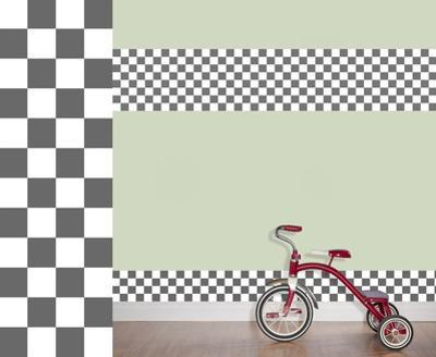Rally Racers Stripes Wall Decal Sticker