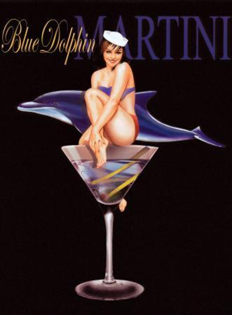 Blue Dolphin Martini by Ralph Burch