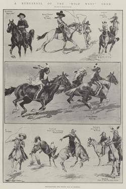 A Rehearsal of the Wild West Show by Ralph Cleaver
