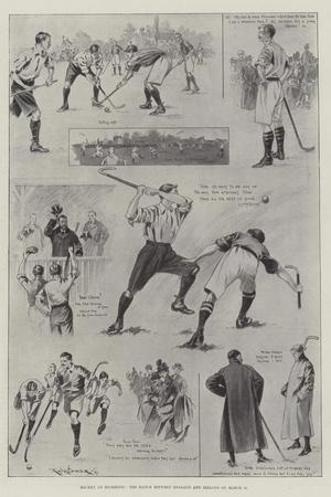 Hockey at Richmond, the Match Between England and Ireland on 11 March