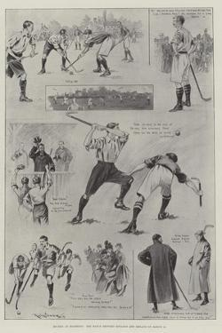 Hockey at Richmond, the Match Between England and Ireland on 11 March by Ralph Cleaver