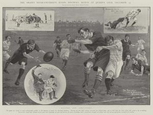 The Drawn Inter-University Rugby Football Match at Queen's Club, 13 December by Ralph Cleaver