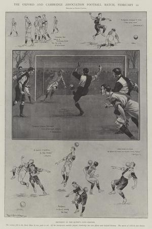 The Oxford and Cambridge Association Football Match, 22 February