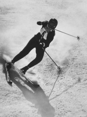 Betsy Snite During Winter Olympics by Ralph Crane