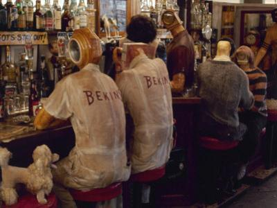 """Detail from Interior of Ed Kienholz's Assemblage """"The Beanery"""" by Ralph Crane"""
