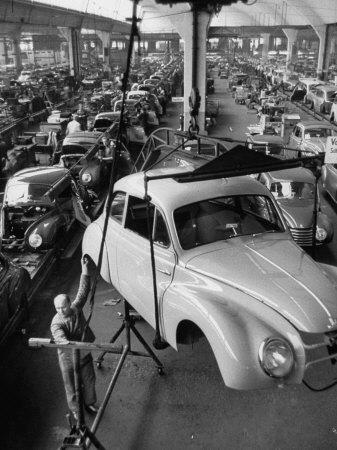 Dkw Auto Works, New 1954 Opels Getting Made