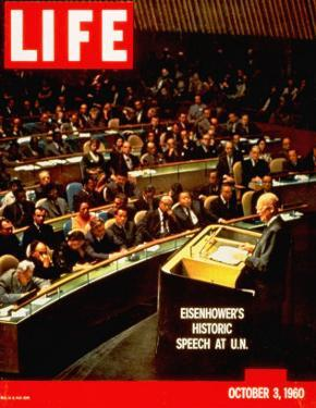 Dwight D. Eisenhower Giving Speech at the United Nations, October 3, 1960 by Ralph Crane