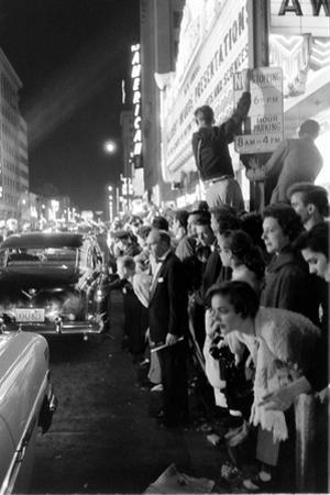 Fans Stargazing During Arrival of Celebrities, 30th Academy Awards, Rko Pantages Theater, 1958 by Ralph Crane