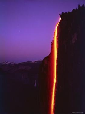 Firefall from Glacier Point at Yosemite National Park by Ralph Crane
