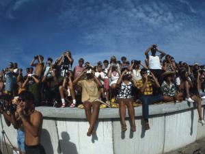 Fish Eye View of Spectators Watching Apollo 11 Blast-Off by Ralph Crane