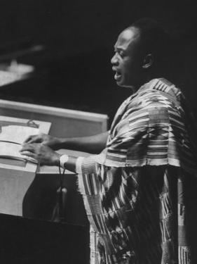 Kwame Nkrumah Speaking at United Nation General Assembly by Ralph Crane