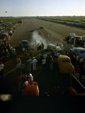 National Hot Rod Association's National Opening Drag Race Held at the Orange County Airport by Ralph Crane
