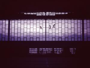 North Facade of the The Olympic Ice Stadium under Construction, Innsbruck, Austria by Ralph Crane