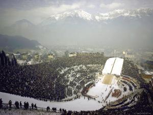 Opening Ceremonies of the 1964 Winter Olympics in Bergisel Stadium by Ralph Crane