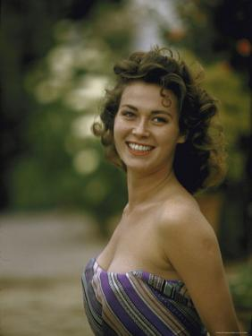 Portrait of Italian Actress Gia Scala by Ralph Crane