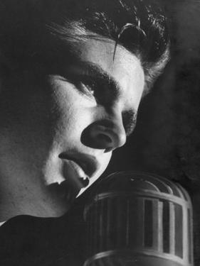 Rock 'N Roll Singer Ricky Nelson During Performance by Ralph Crane