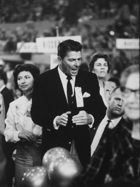 Ronald Reagan During the 1964 Repub. Convention by Ralph Crane