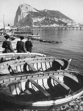 Shot of the Rock of Gibraltar by Ralph Crane