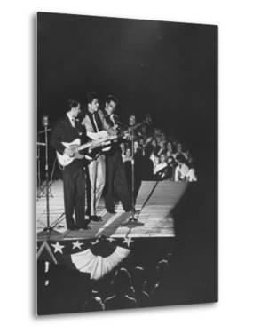 Singer Ricky Nelson and Band Duing a Performance by Ralph Crane