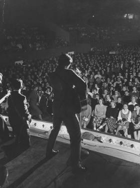 Singer Ricky Nelson and Band During a Performance by Ralph Crane