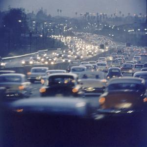 Traffic on Freeway in Los Angeles, California, 1959 by Ralph Crane