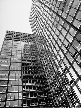 Views of Mies Van Der Rohe's Glass Walled Apartment House on Michigan Blvd. in Chicago