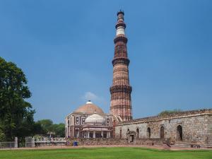 Asia. India, The Qtub Minar of the Alai-Darwaza complex in New Delhi. by Ralph H. Bendjebar