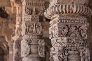 India. Column details at the Alai-Darwaza complex in New Delhi. by Ralph H. Bendjebar