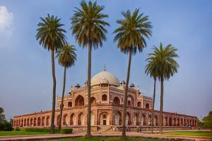 India. Exterior view of Humayun's Tomb in New Delhi. by Ralph H. Bendjebar