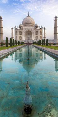 India. View of the Taj Mahal in Agra. by Ralph H. Bendjebar