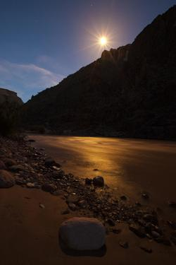 Full Moon over the Gorge Walls at Trinity Creek by Ralph Lee Hopkins