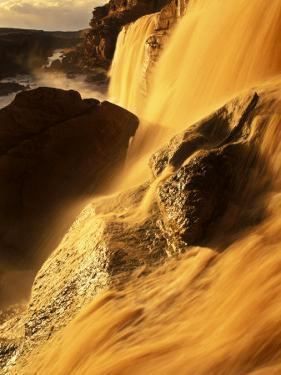 Grand Falls of the Little Colorado River, Arizon'As Largest Waterfall by Ralph Lee Hopkins