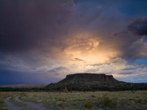 Storm Clouds over Sacred Ground at Black Mesa by Ralph Lee Hopkins