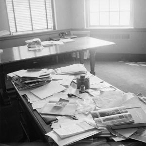Albert Einstein's Office by Ralph Morse