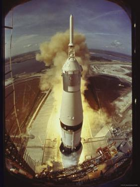 Apollo 11 Space Ship Lifting Off on Historic Flight to Moon by Ralph Morse