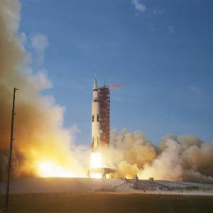 Apollo 11 Taking Off. Cape Canaveral, Florida by Ralph Morse