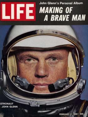 Astronaut John Glenn, Making of a Brave Man, February 2, 1962 by Ralph Morse