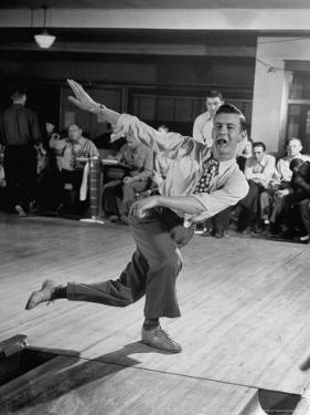 Bob Jones Bowling with a Cigar Hanging Out of His Mouth by Ralph Morse