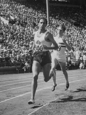 British Empire Games, Runners John Landy and Roger Bannister Competing by Ralph Morse