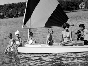 Family of Apollo 8 Astronaut William Anders on a Sailboat by Ralph Morse